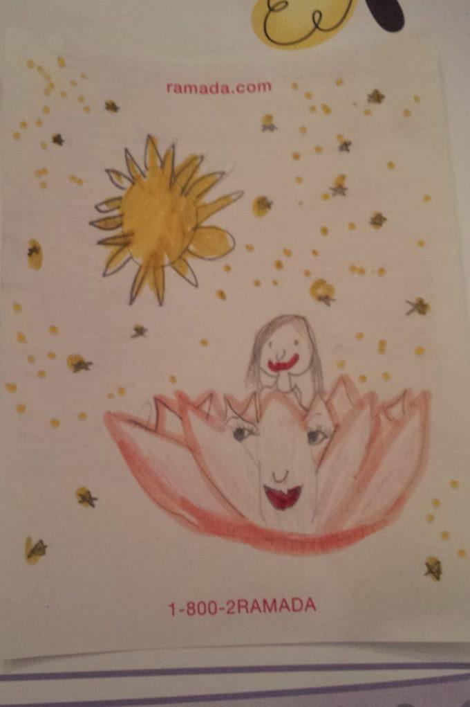蓮花艾莉森所畫夢境的摩訶雙蓮池